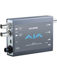 AJA HI53D HD-SDI Multiplexer To HDMI 1.4a and SDI Vid/Aud Mini-Converter
