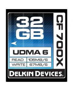 Delkin Devices 32GB CompactFlash Memory Card 700x UDMA