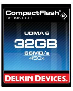 Delkin 32 GB CompactFlash (CF) PRO 450X UDMA Memory Card