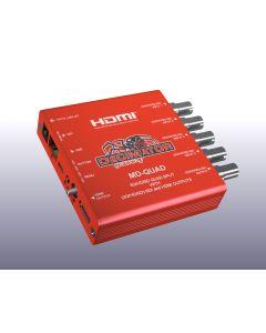Decimator MD-QUAD Miniature (3G/HD/SD) QUAD SPLIT with HDMI-by-Decimator