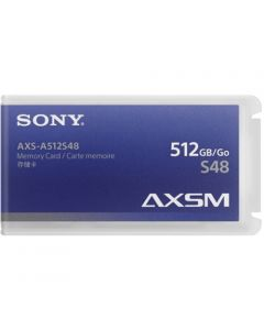 Sony AXSM A Series 4.8 Gb/s Memory Card for AXS-R5 & R7 Camera Recorders (512GB, Black Trim)
