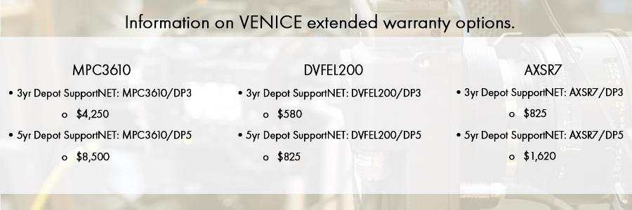 Sony VENICE Extended Warranty